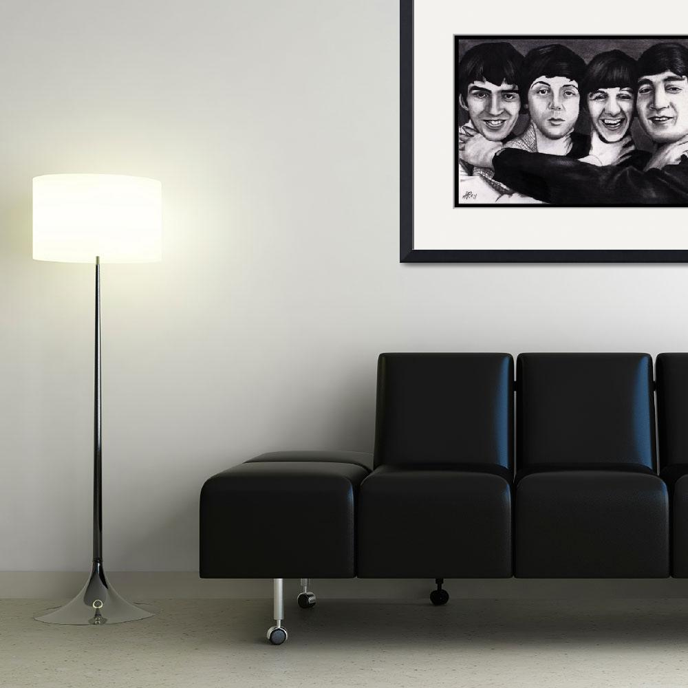 """""""The Beatles Drawing&quot  (2011) by ArtByAlycia"""