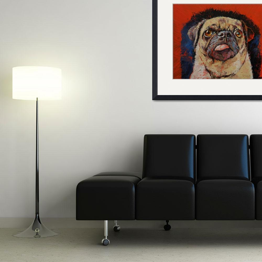 """Pug Portrait&quot  by creese"