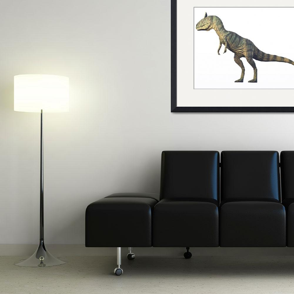"""""""Cryolophosaurus standing, white background""""  by stocktrekimages"""