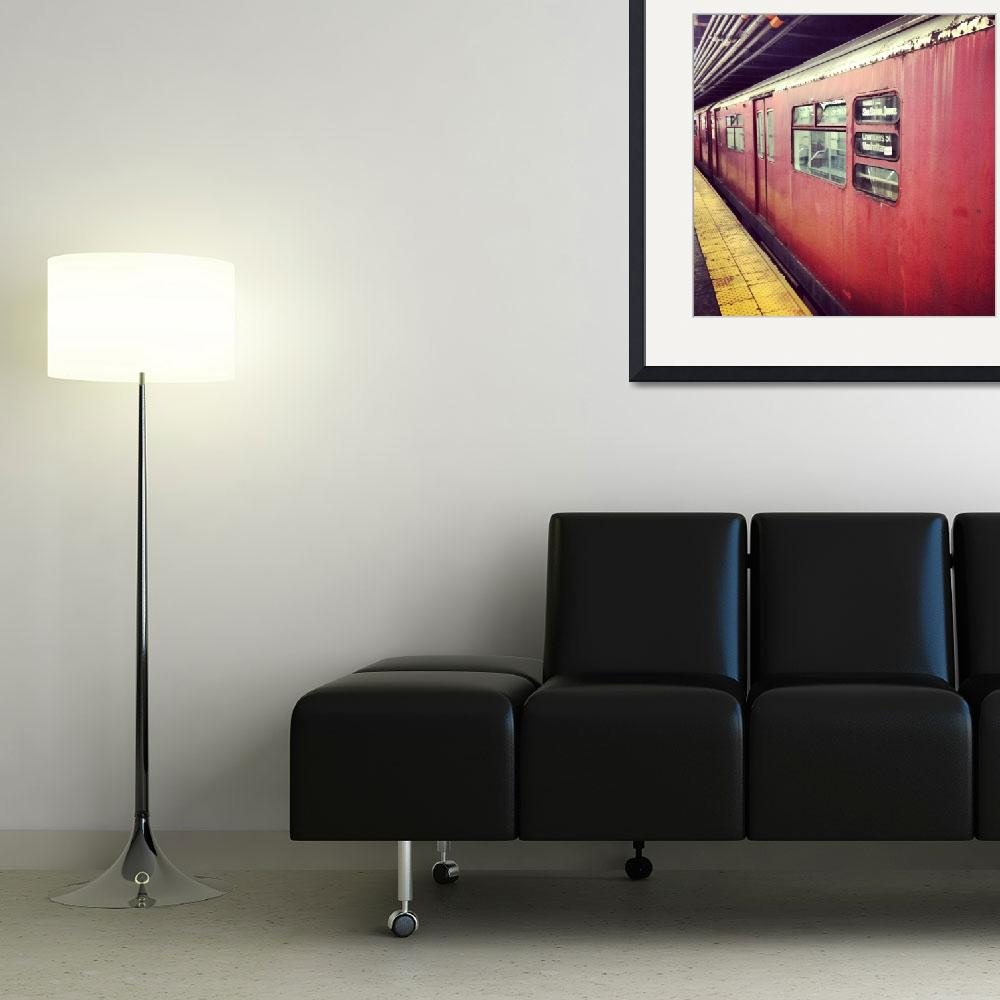 """""""Vintage Subway Car&quot  (2014) by gcr"""