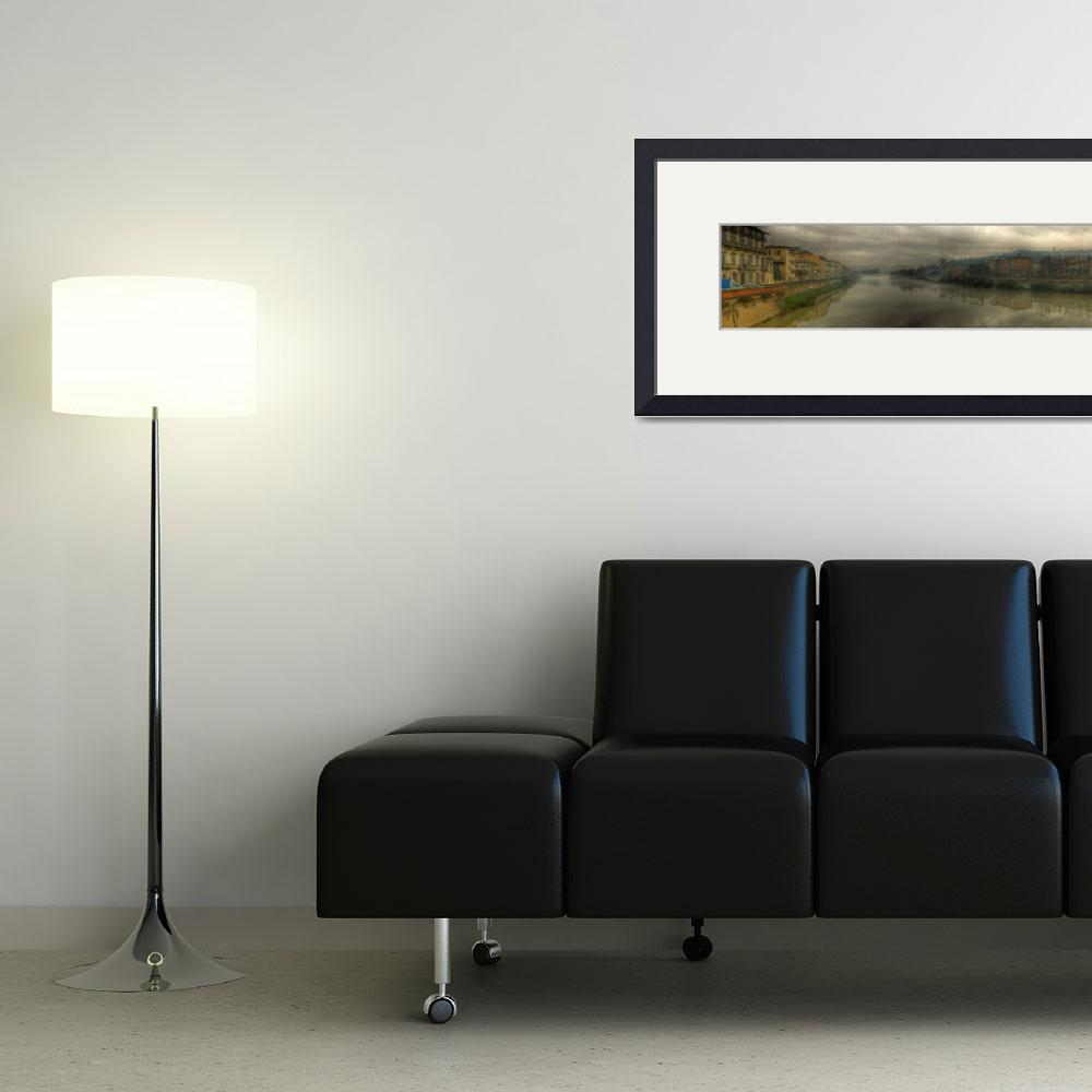 """""""Panorama of the Arno River&quot  (2012) by me9"""
