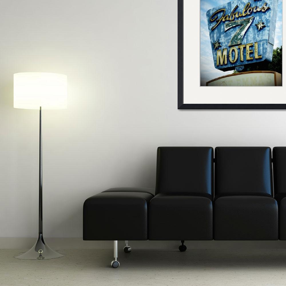 """""""Neon Sign Fabulous 7 Motel&quot  (2008) by cr8tivguy"""