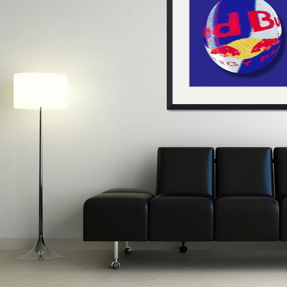 """""""Red Bull Orb&quot  (2014) by RubinoFineArt"""