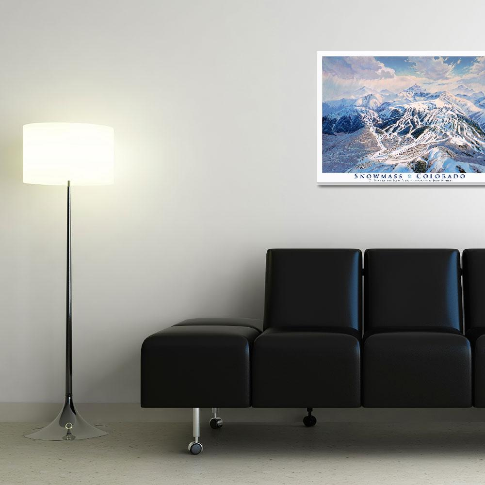 """""""Snowmass Colorado&quot  (1991) by jamesniehuesmaps"""