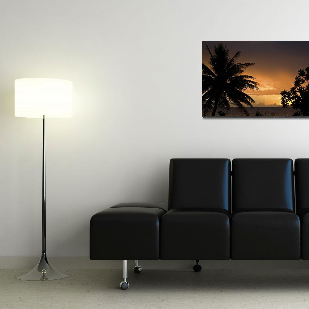 """""""Sunset and Palm Trees""""  (2008) by Mac"""