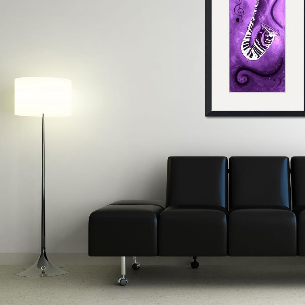 """""""Piano Keys in a Saxophone Purple Music In Motion&quot  by waynecantrell"""