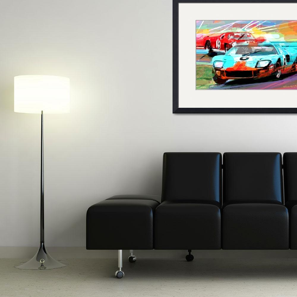 """""""FORD GT 40 LEADS THE PACK&quot  (2014) by DavidLloydGlover"""