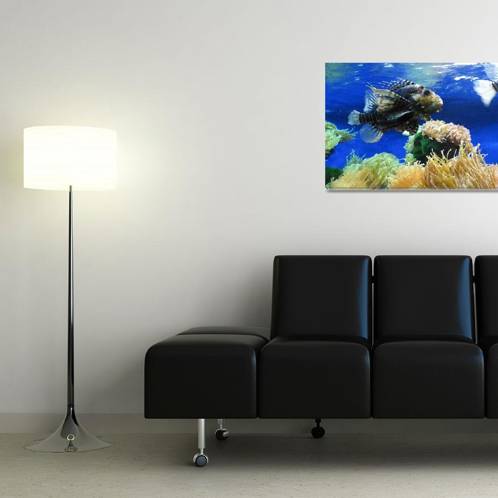 """""""Fish Swaying in Blue&quot  (2007) by pineapple"""