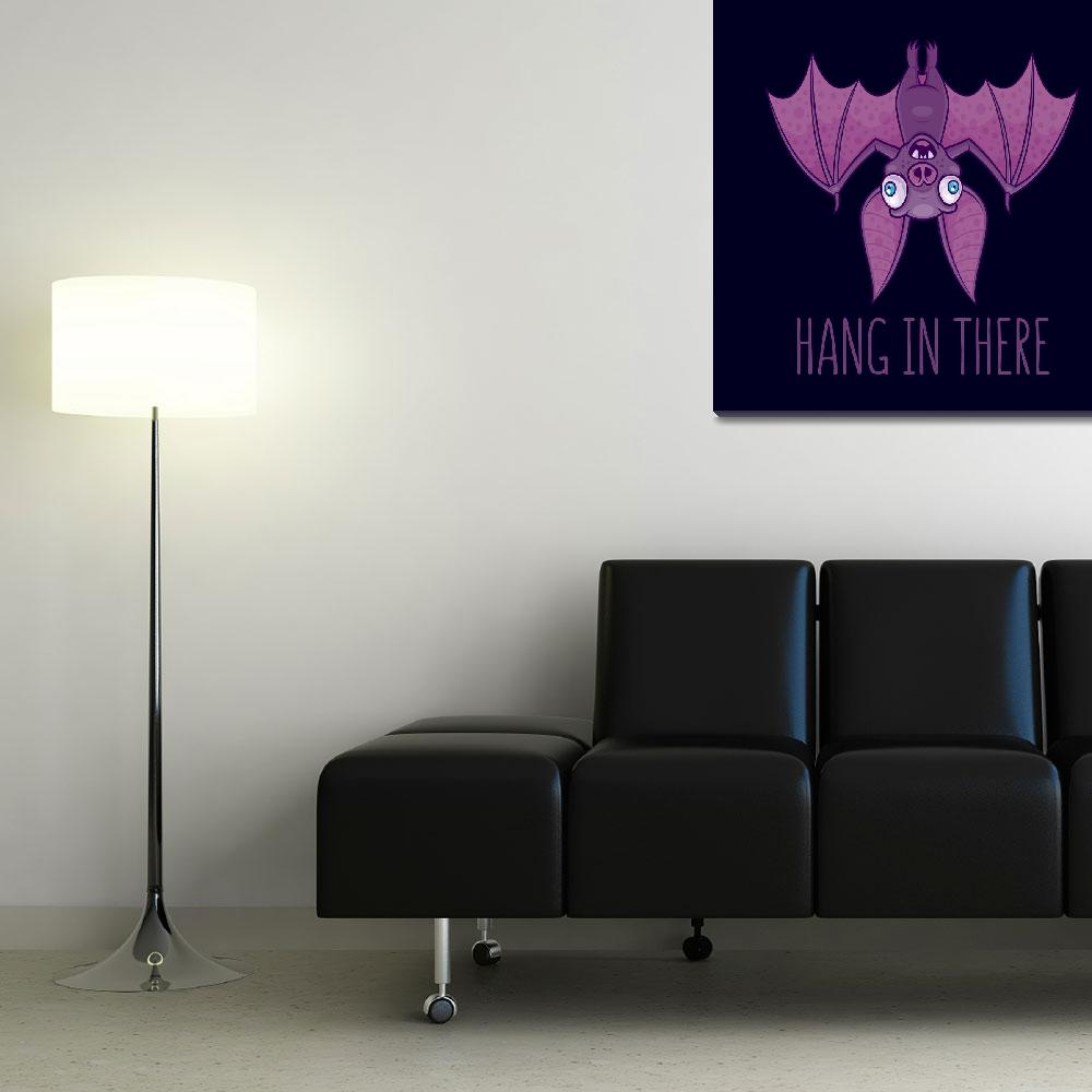 """Hang In There Wacky Vampire Bat&quot  (2018) by schwegel"