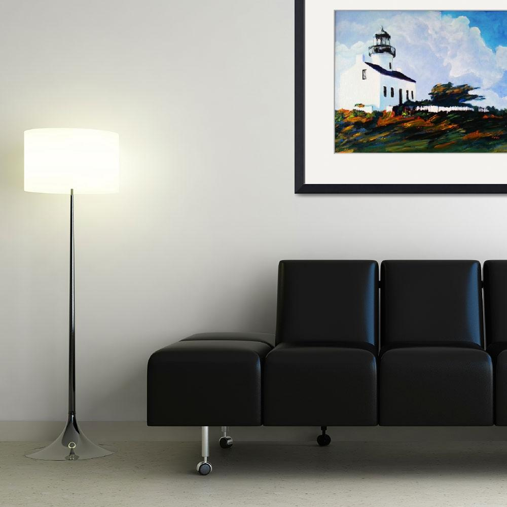 """""""Point Loma Lighthouse San Diego&quot  (2007) by RDRiccoboni"""