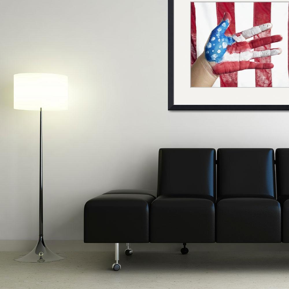 """""""American Flag Hand&quot  (2014) by SkipNall"""