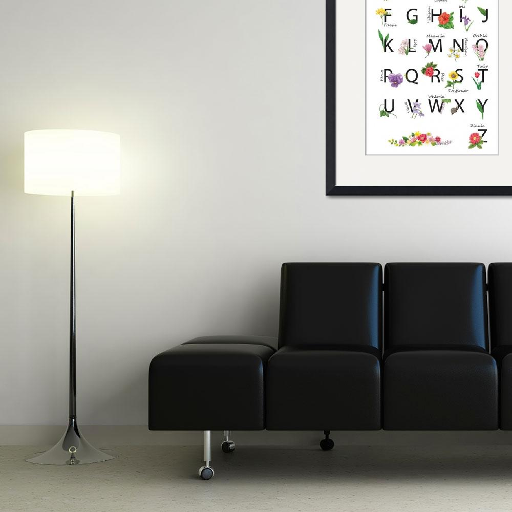 """Flower Alphabet Poster&quot  (2011) by cristal"