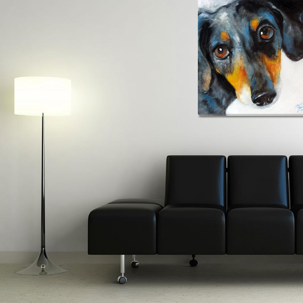 """DAPPLE DOXIE&quot  (2009) by MBaldwinFineArt2006"