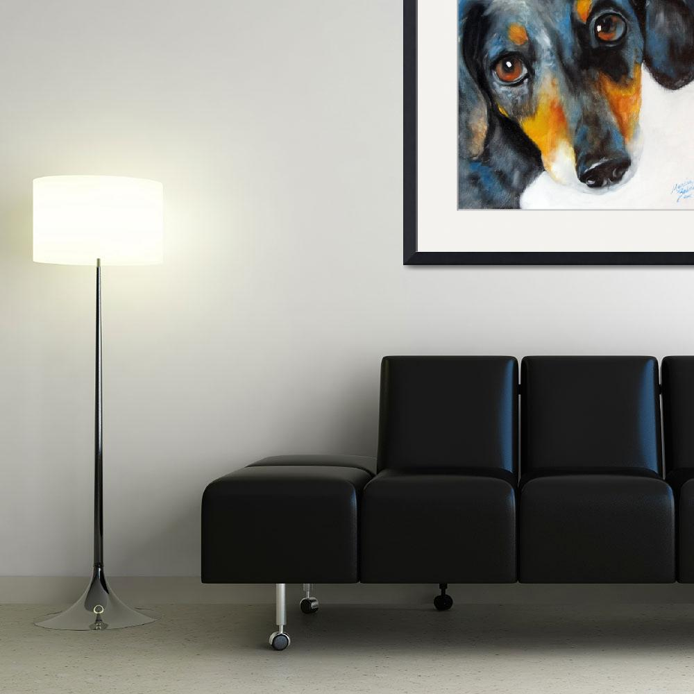 """""""DAPPLE DOXIE&quot  (2009) by MBaldwinFineArt2006"""
