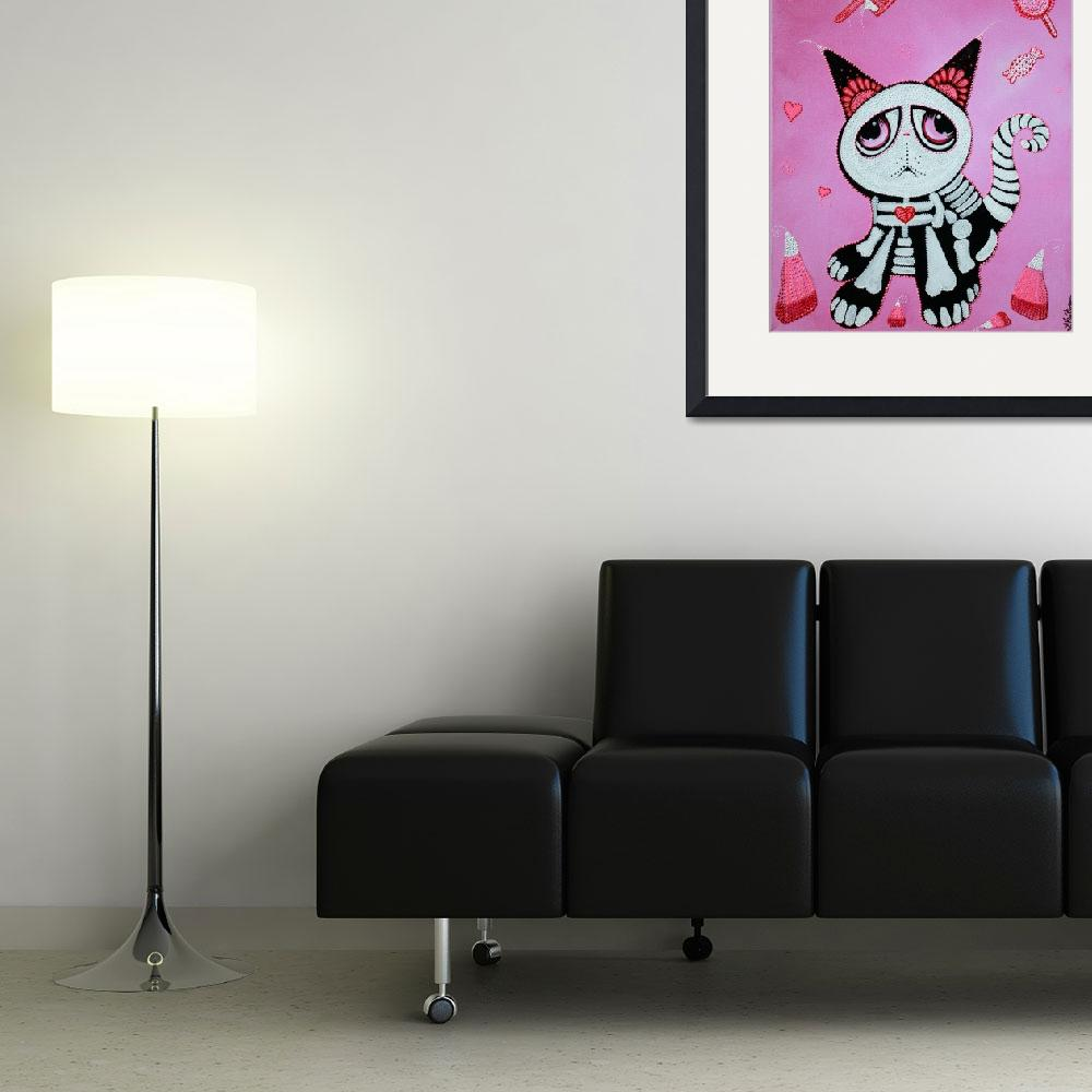 """""""Kitty Cat Candy&quot  (2012) by ArtPrints"""