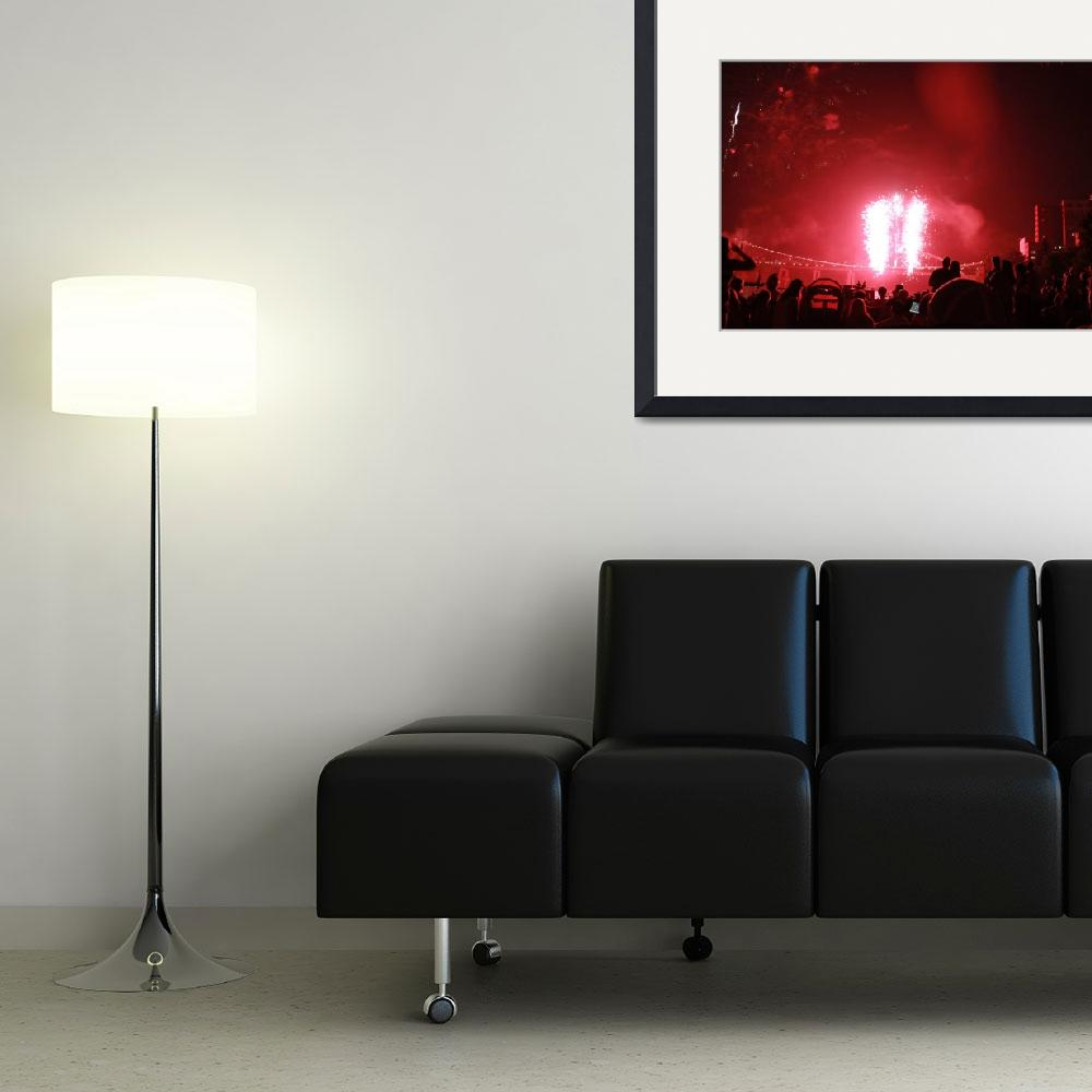 """""""Crowd Watching Fireworks&quot  (2009) by bill26003"""