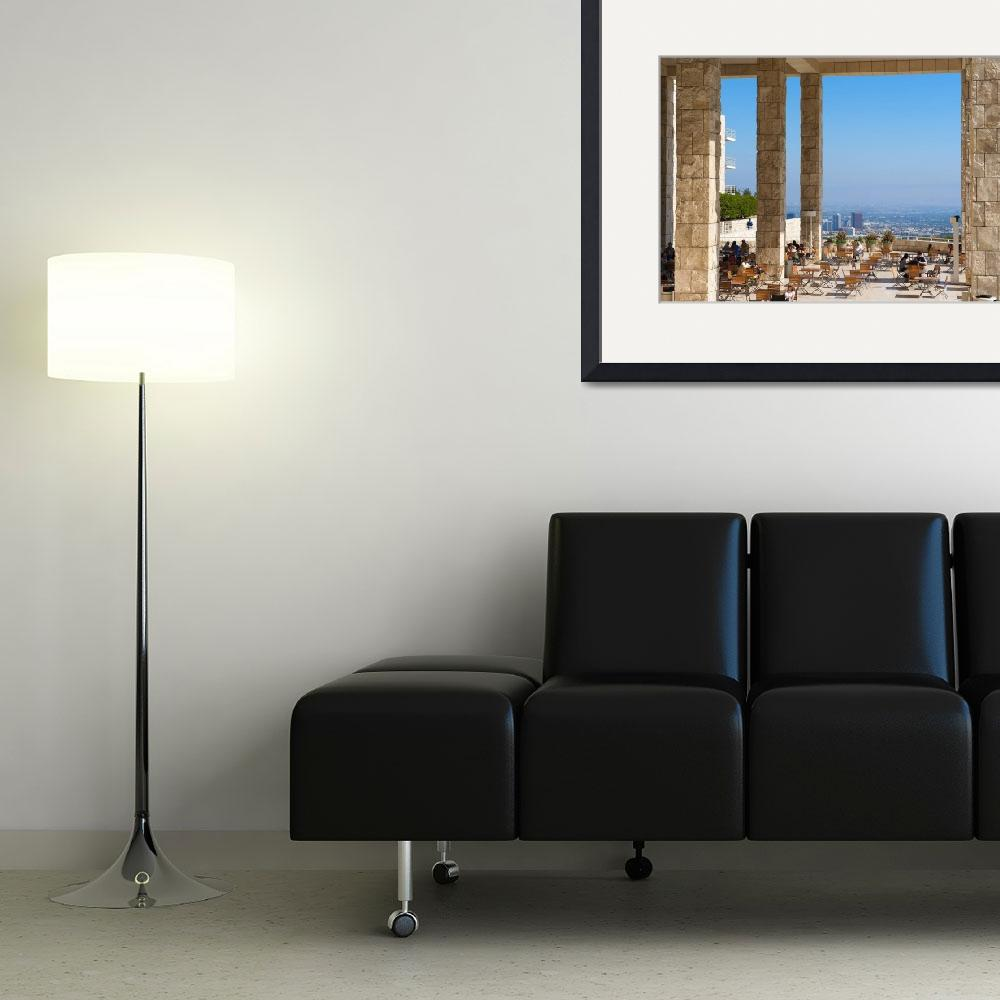 """""""The Getty Center Balcony&quot  (2009) by PTaverna"""