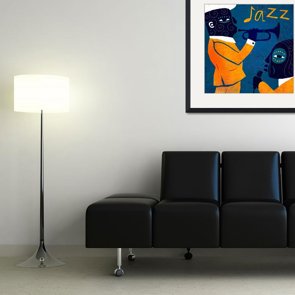 """""""Jazz in Blue and Yellow""""  (2011) by BenjaminBay"""