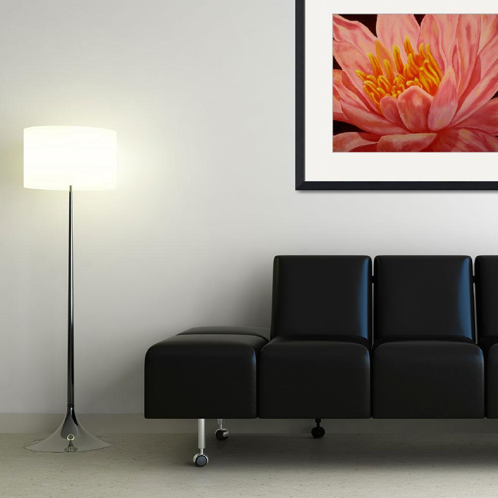 """Pink Waterlily&quot  (2007) by artbydarla"