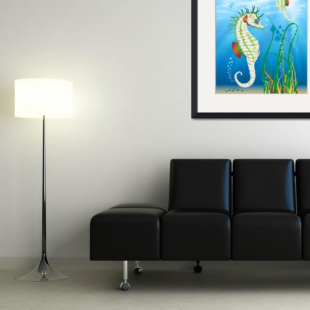 """""""Seahorses""""  (2013) by DesignsByWolfe"""