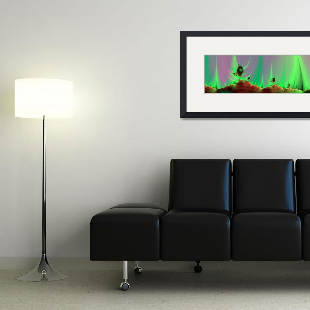 """Alien Landscape Panorama&quot  (2012) by Objowl"