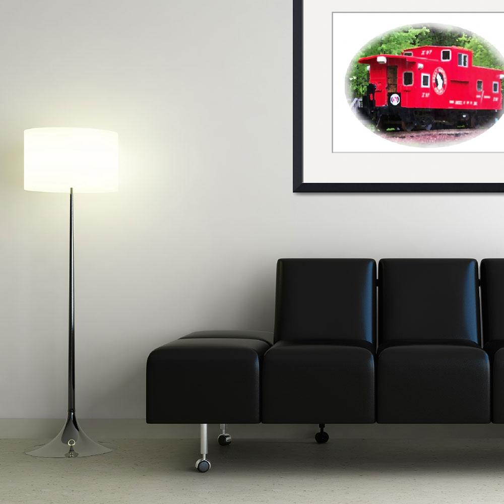 """""""063012 Red Caboose Montana&quot  (2012) by garlandoldham"""