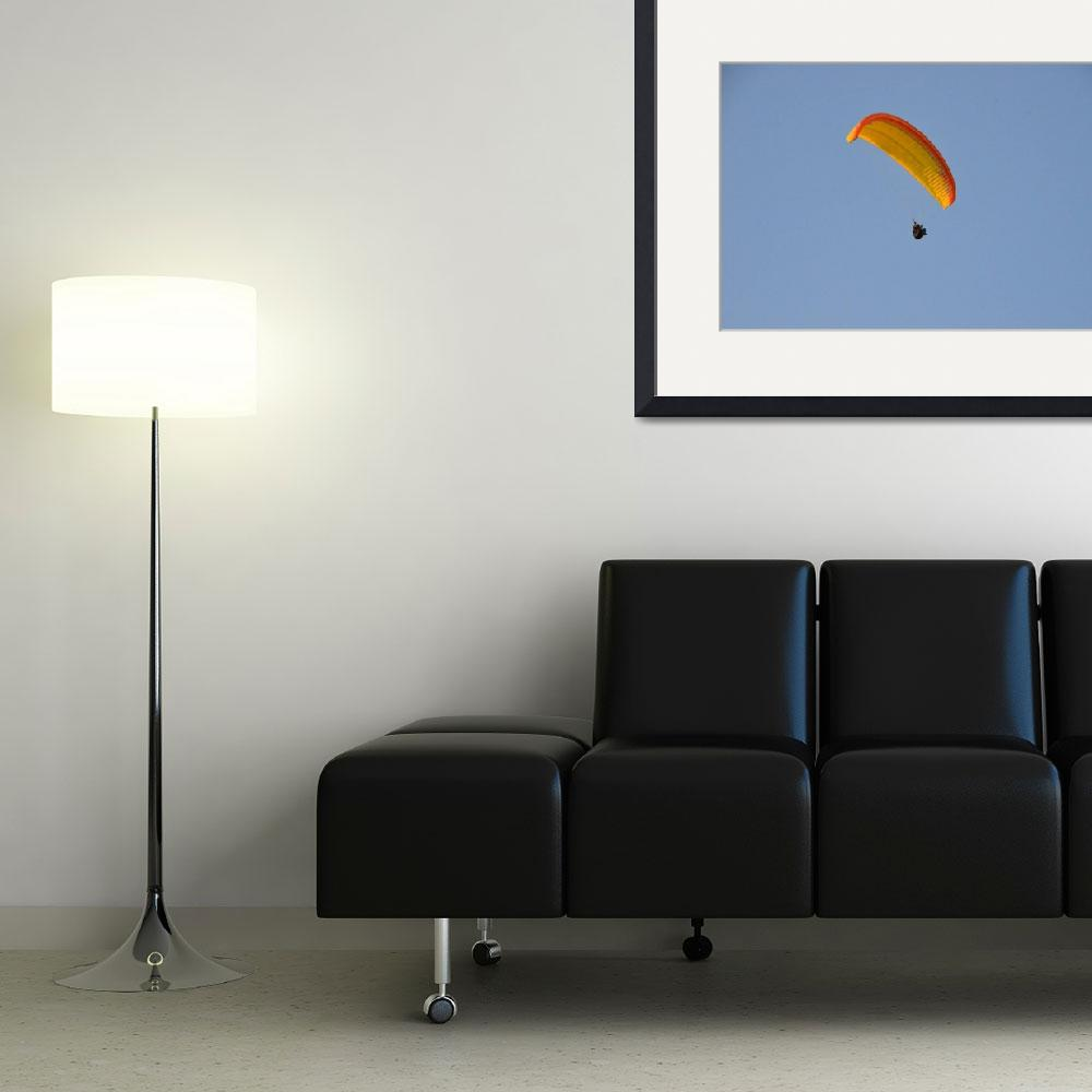 """""""Soaring Paraglider&quot  (2014) by malcolmsnook"""