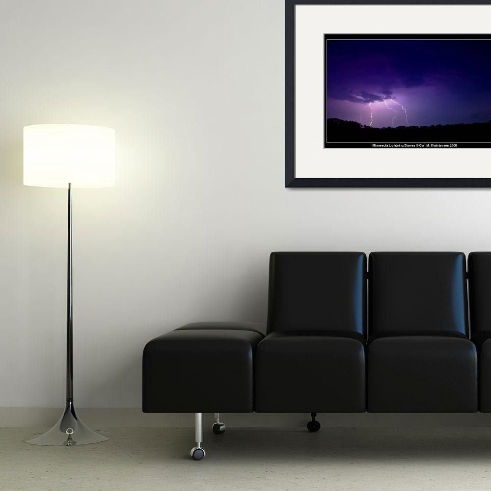 """""""Minnesota Lightning Storms&quot  (2008) by CC-Photography"""