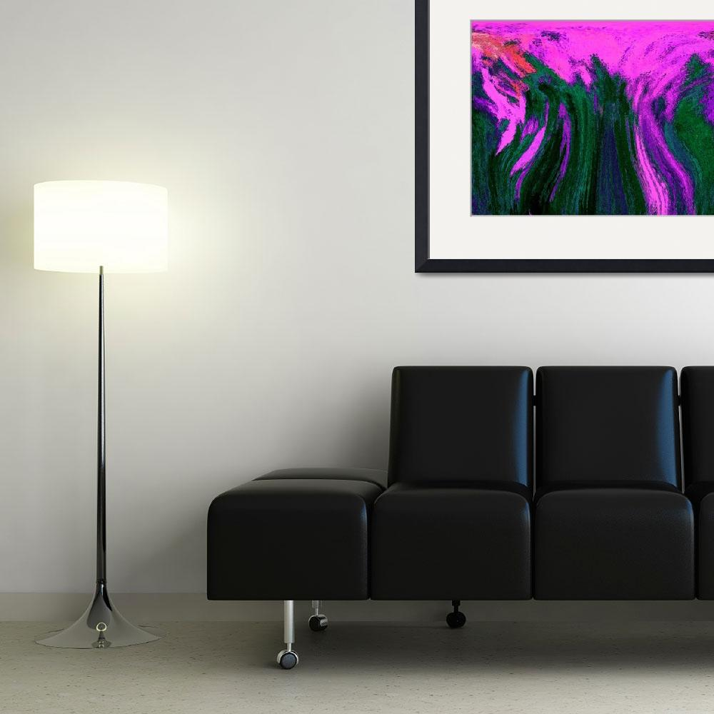 """Pink and Green abstract&quot  (2012) by KsWorldArt"