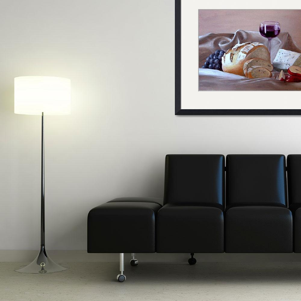 """""""Bread and Cheese - oil on canvas&quot  by destinationcreation"""