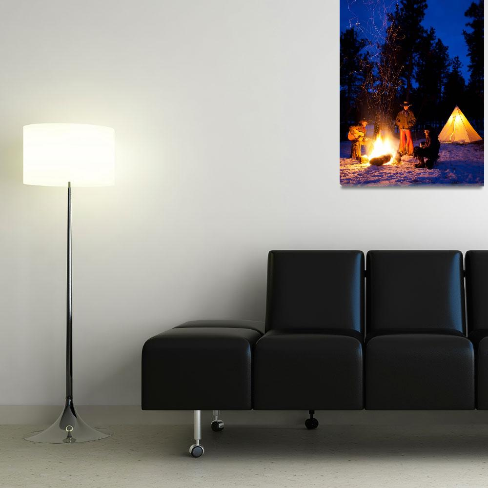 """""""Cowboy Campfire""""  (2012) by Inge-Johnsson"""