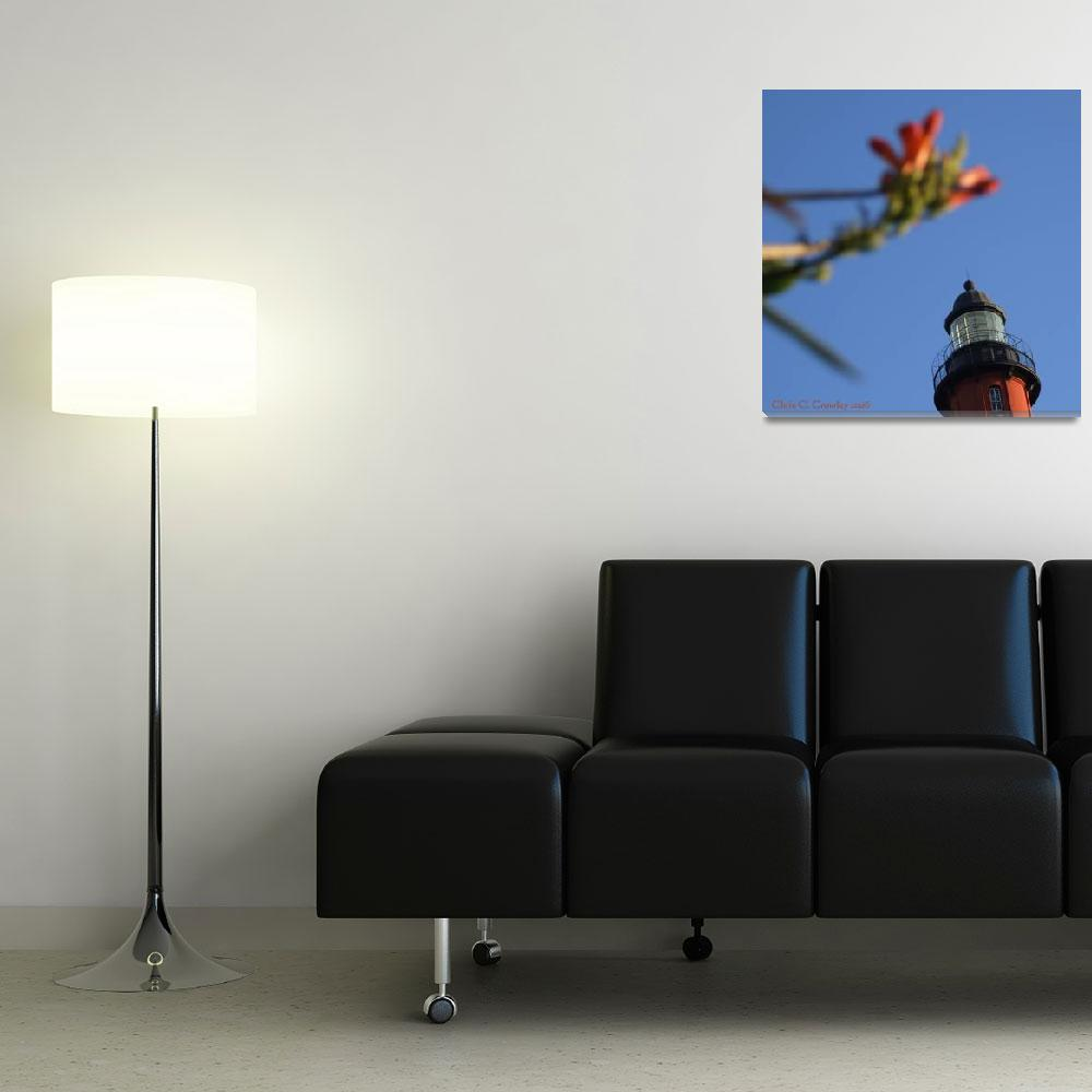 """""""Top Of the Lighthouse With Flowers""""  (2009) by ChrisCrowley"""