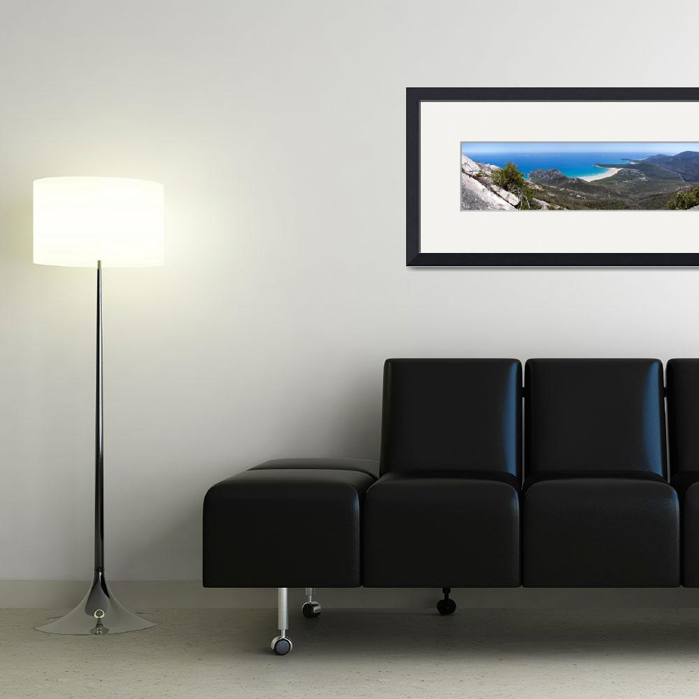 """""""Tidal River and Norman Bay Panorama&quot  (2010) by willhl"""