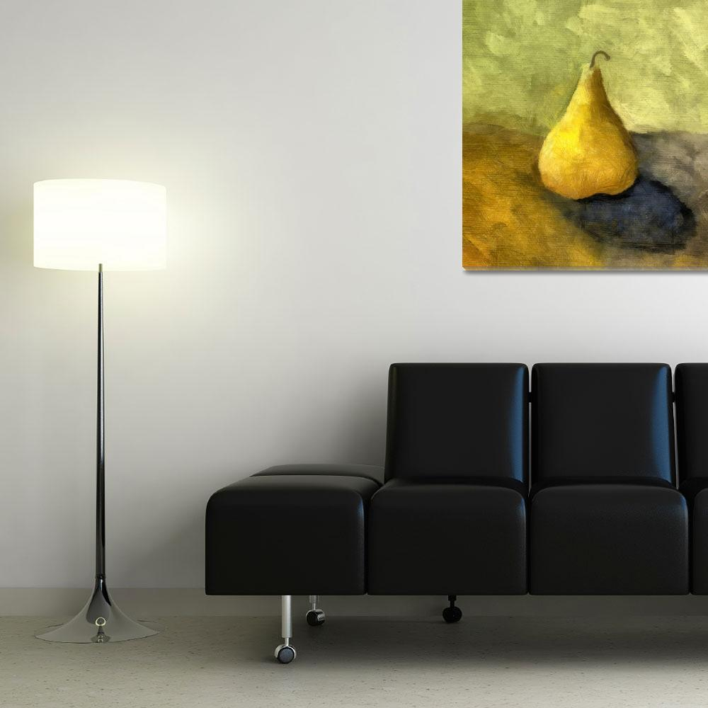 """""""Pear Still Life with Green and Brown&quot  (2007) by Michelle1991"""