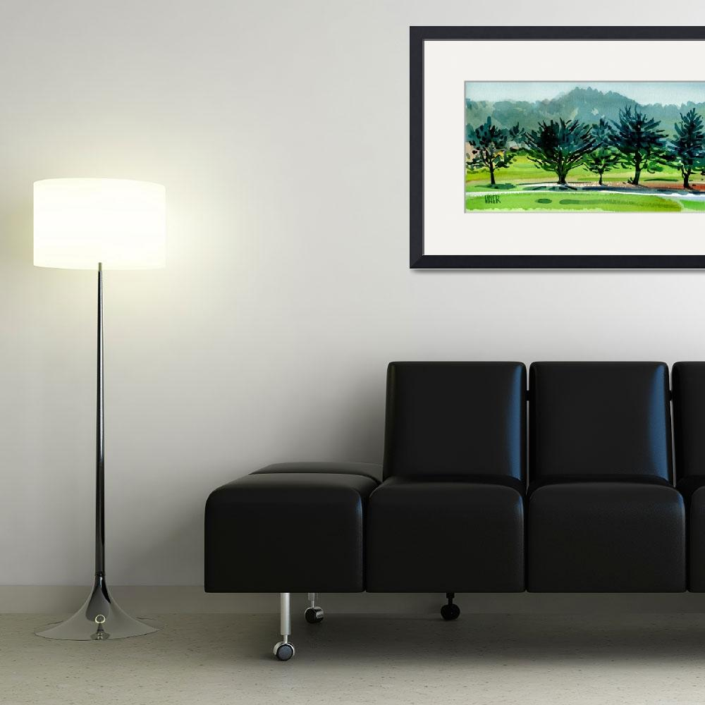 """Fairway Junipers 12x24 HR&quot  (1990) by maiergallery"