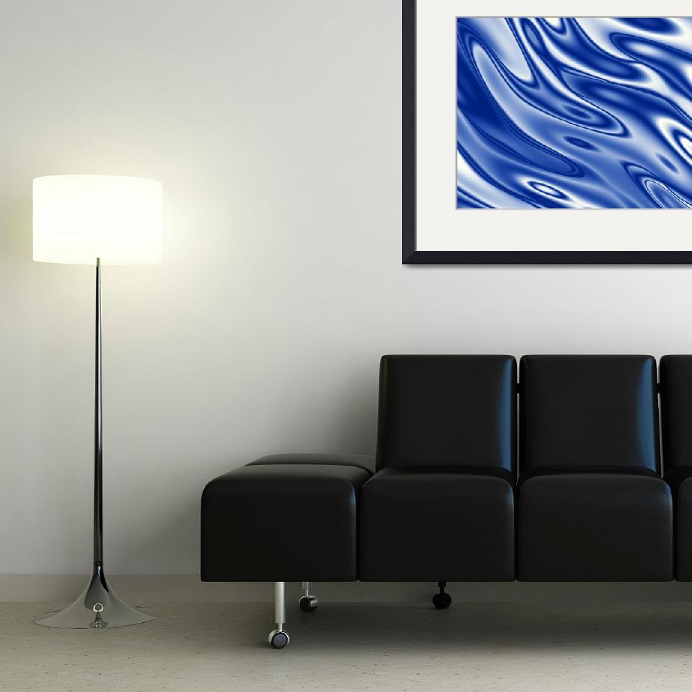 """""""Blue waves pattern&quot  (2014) by igorsingallery"""