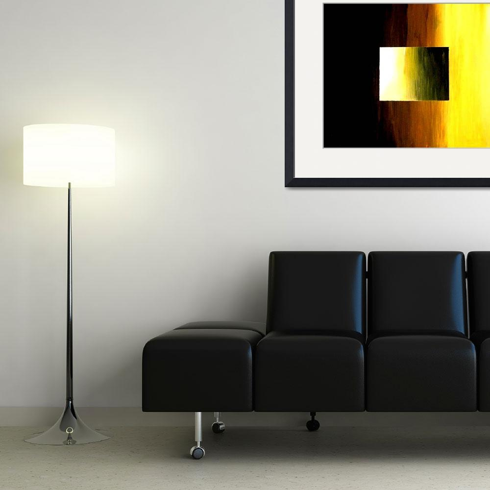 """""""ABSTRACT 3D  YELLOW  GOLDEN SQUARE&quot  (2006) by teofaith"""