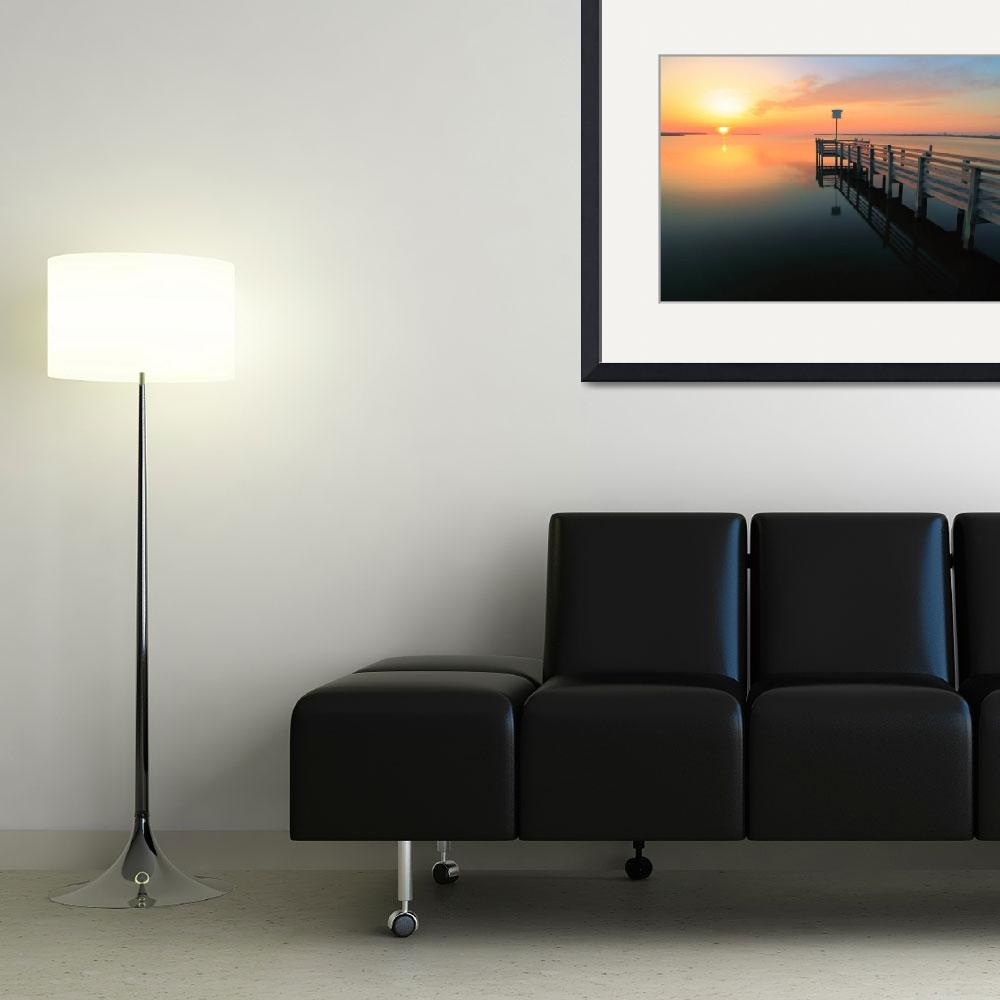 """""""Dock onto the sound at sunset&quot  (2014) by RoupenBaker"""