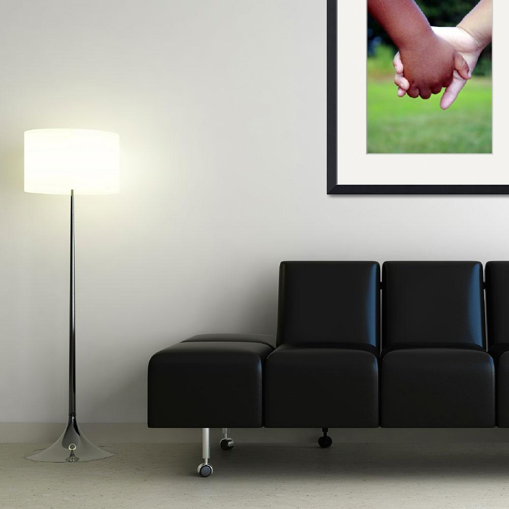 """""""Caucasian and Hispanic child holding hands&quot  (2010) by BehindTheLens"""