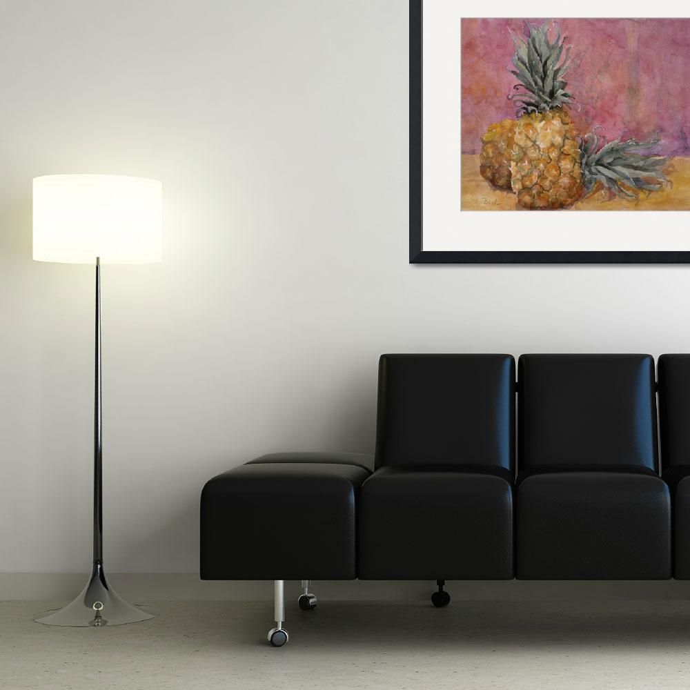 """Two Pineapples Still Life&quot  by BlendaStudio"