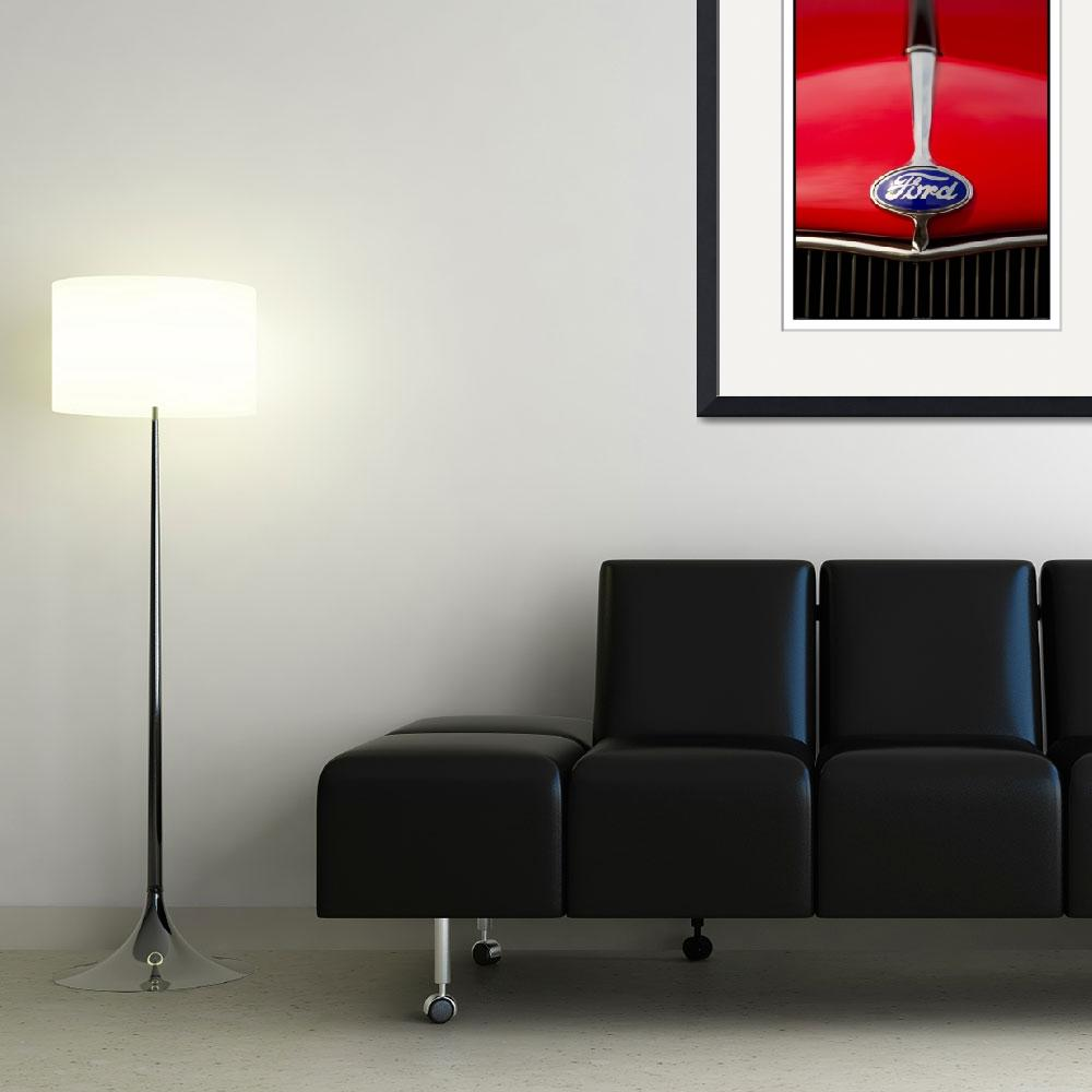 """""""Classic Car Red - 09.19.09_084&quot  (2009) by paulhasara"""
