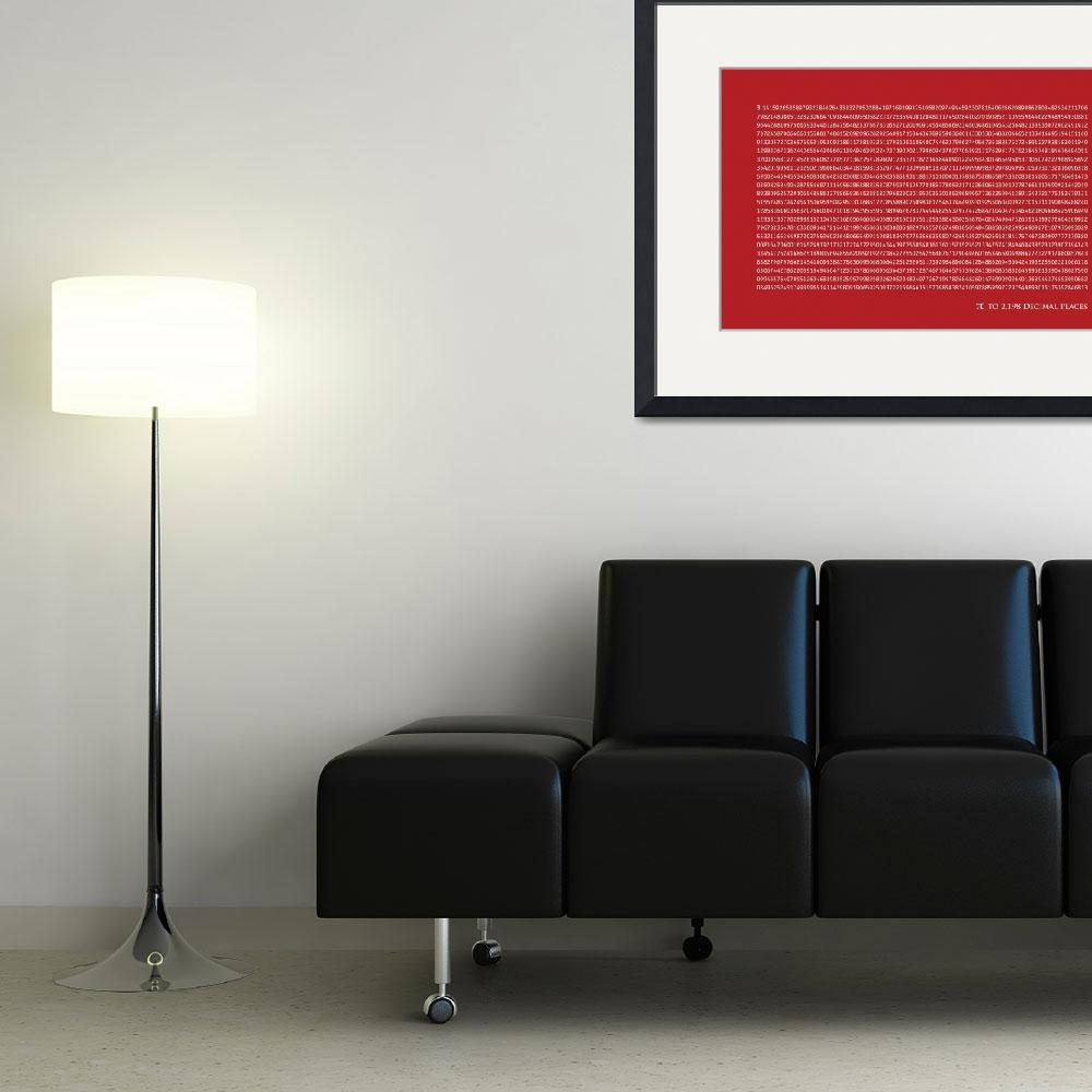 """Pi to 2198 decimal place&quot  (2011) by ModernArtPrints"
