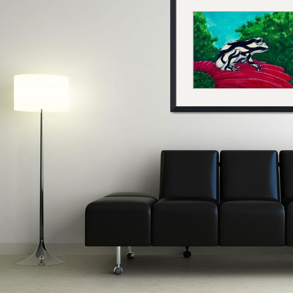 """""""black and white frog&quot  (2014) by Artpixie"""