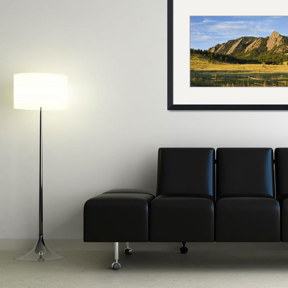 """Flatirons from Chautauqua Park&quot  (2011) by lightningman"