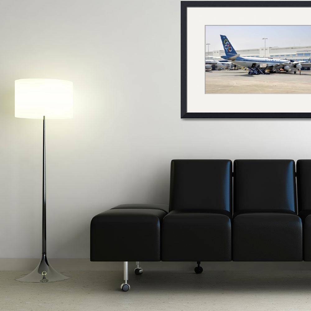 """""""Defunct Olympic Airbus A340/300&quot  (2005) by JoaoPonces"""