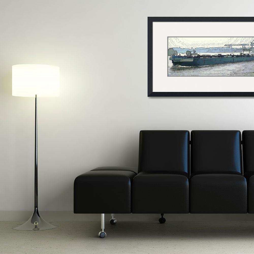 """Barge on the Rhine3&quot  (2009) by billbarber"