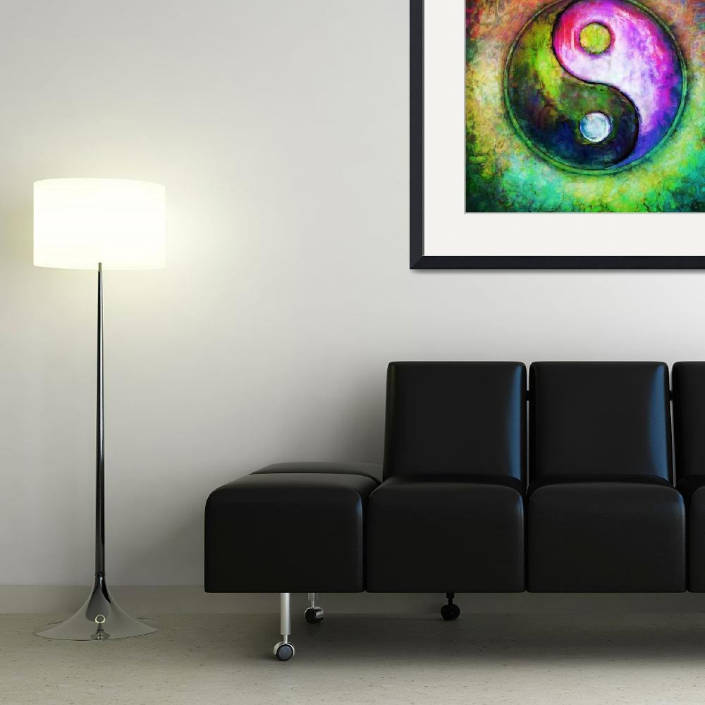 """""""Yin Yang - Colorful Painting I""""  by dcz"""