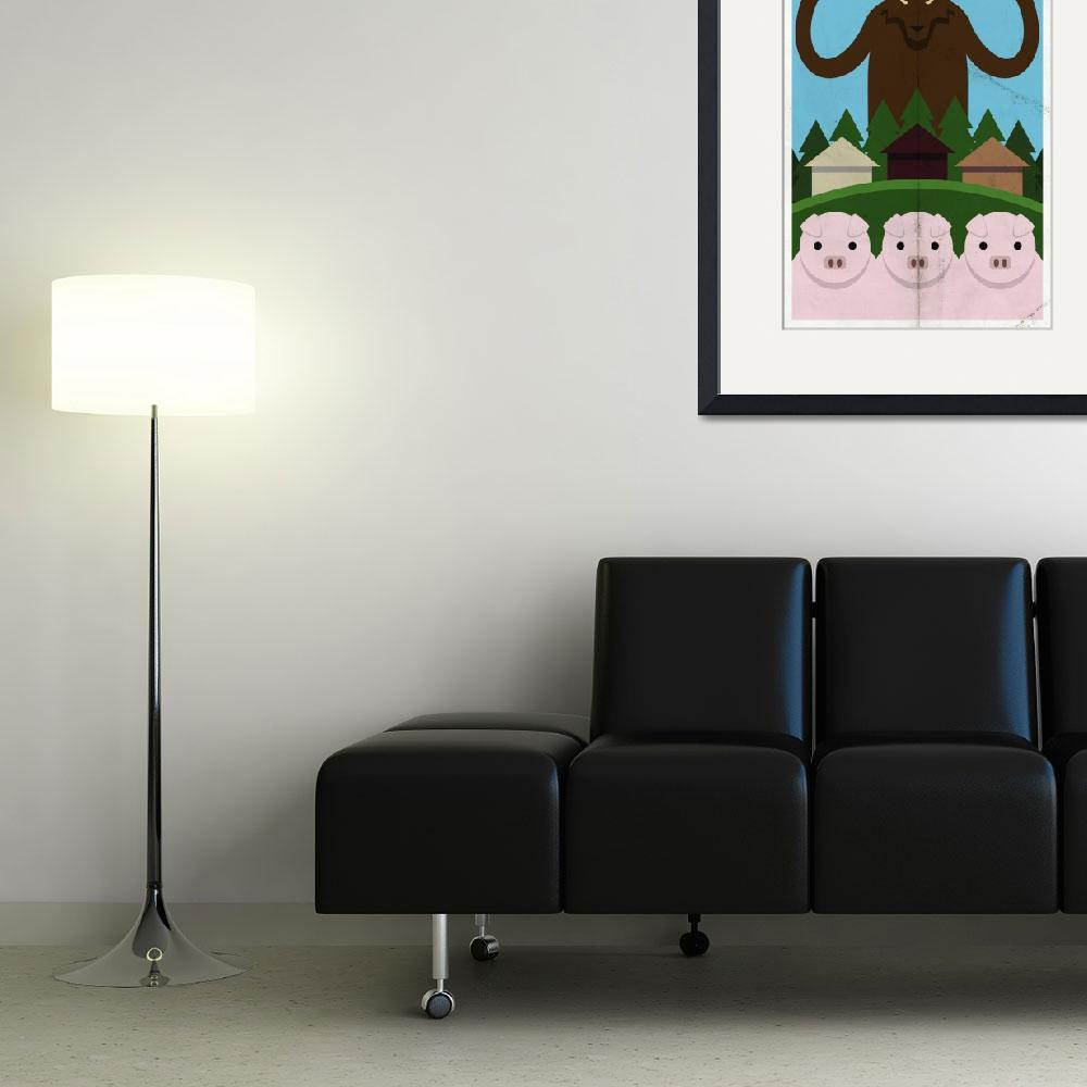 """""""3 Little Pigs&quot  (2010) by drawsgood"""