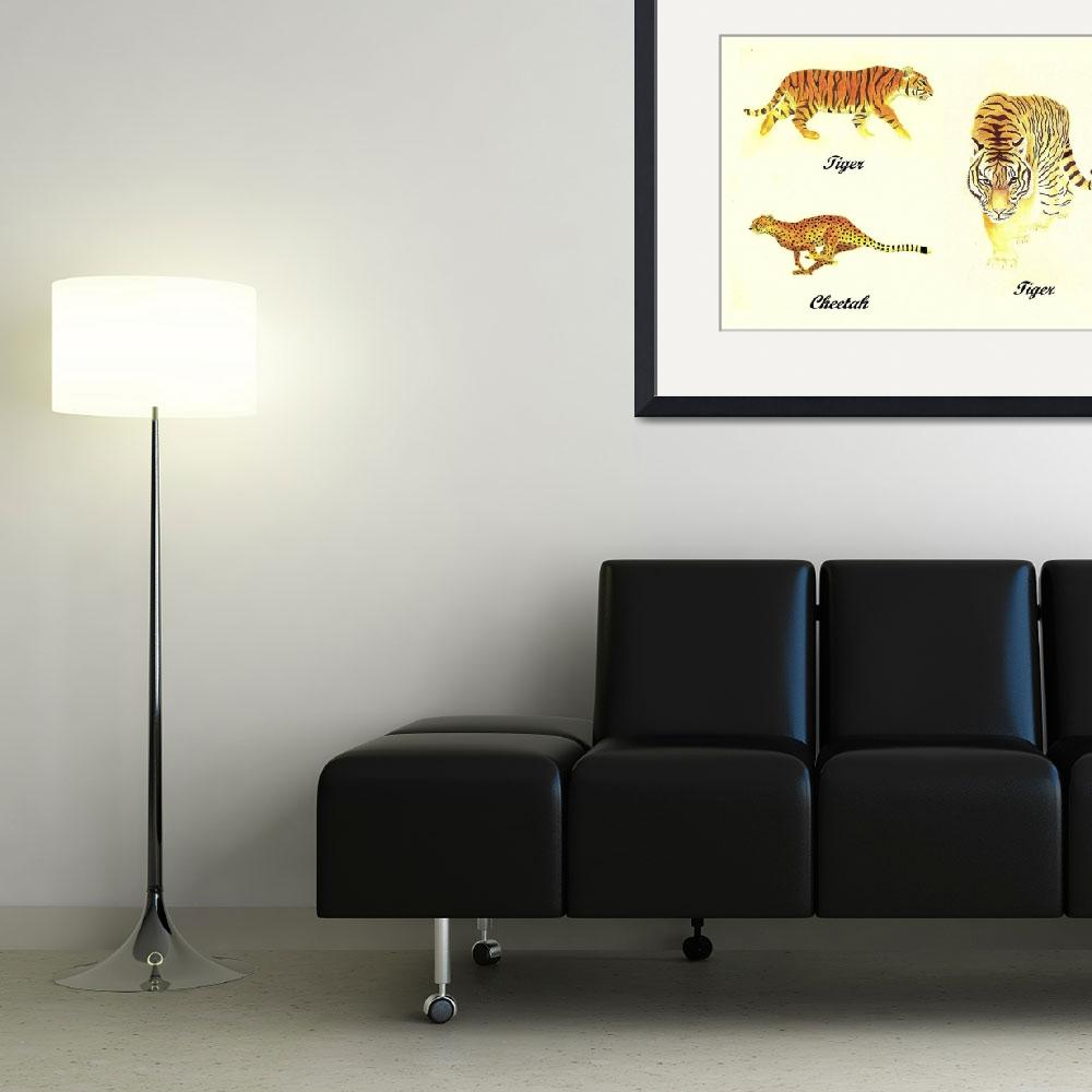 """3 Big Cats Paintings&quot  (2011) by vigliotti"