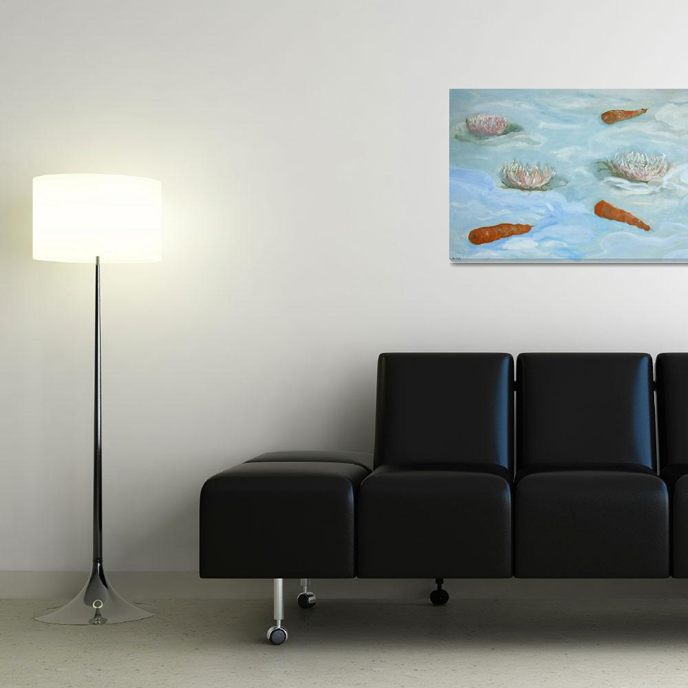 """""""Lotus and carrots&quot  (2009) by JHSvisualartist"""